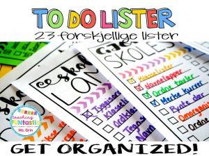 Get organized! med to do lister og permsystem