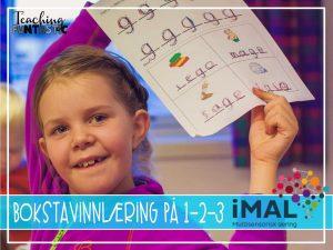 Bokstavinnlæring på 1-2-3 med iMal (Gjesteinnlegg)