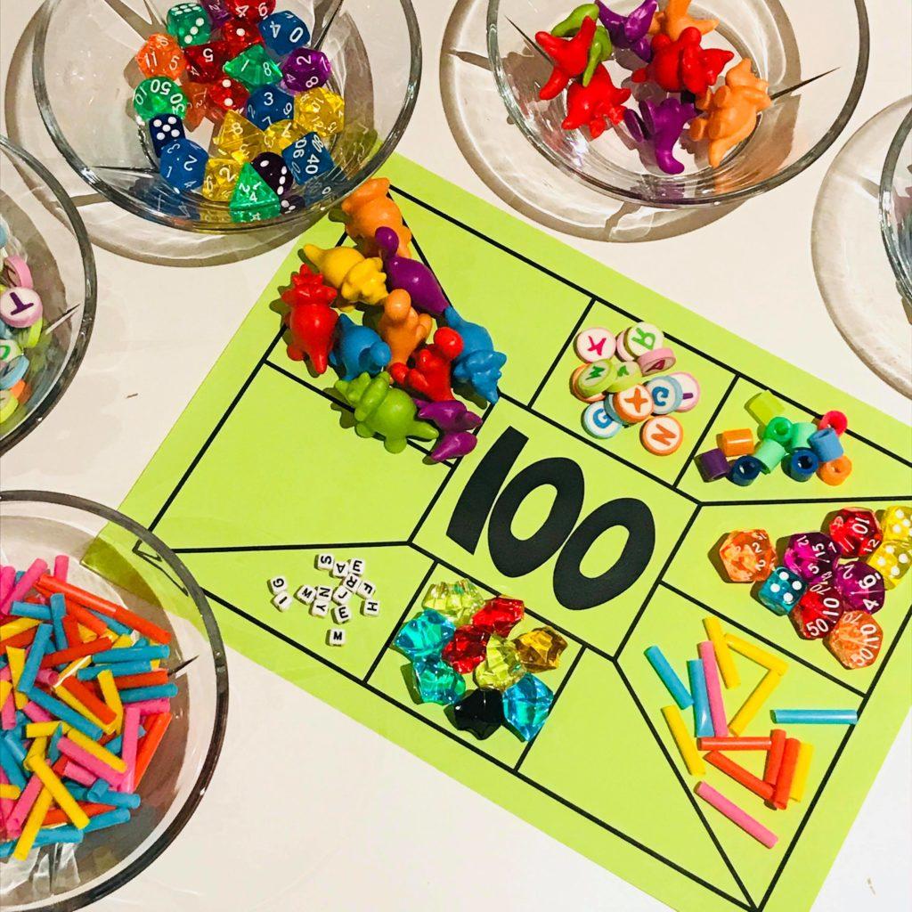 100 skoledager sortere