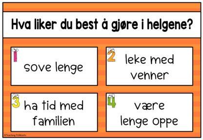 Bruk disse Brain Break pauseaktivitetene i skolen og i klassen. Oppgaver på norsk som får barn i bevegelse.