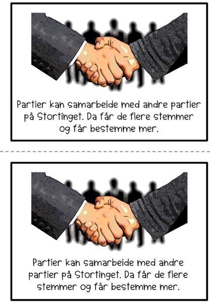 3 lettleste lesehefter for barn i 2 nivåer, om valg og politikk i Norge. Oppgaver og ordkort. Lær om valgdagen, politikk og Stortinget.