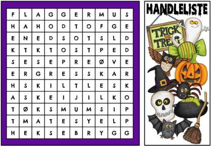 Elevene løser ordletingsoppgave i Escape room til Halloween