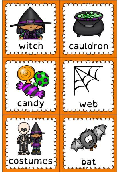 ordkort halloween engelsk