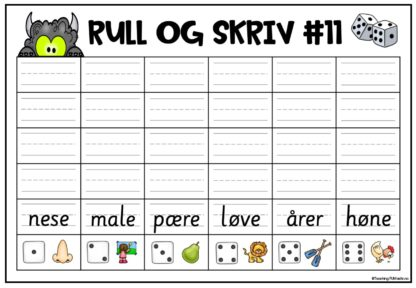 Rull og skriv terningsspill