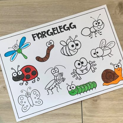 Fargelegging insekter og småkryp