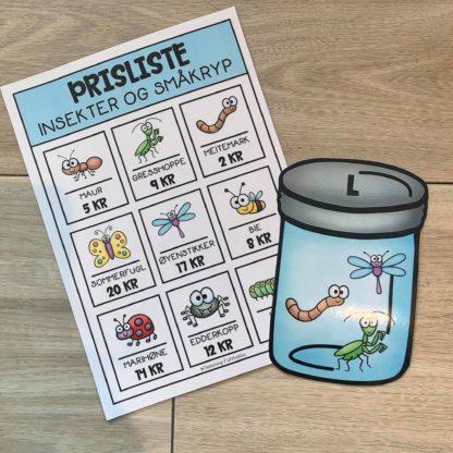 Regne med penger insekter og småkryp