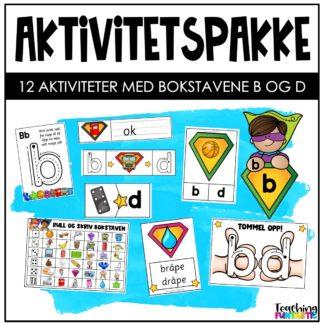 Aktiviteter og oppgaver bokstavene b og d
