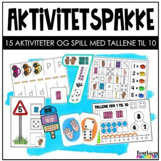 Aktiviteter spill og oppgaver med tall til 10