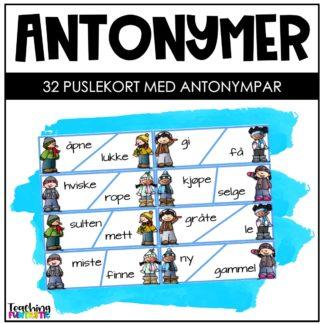 Antonymer oppgaver