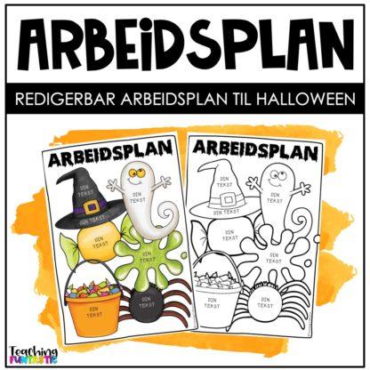 Arbeidsplan med halloween tema