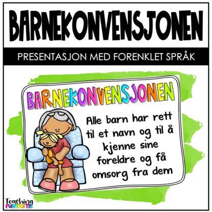 Barnekonvensjonen presentasjon for barn