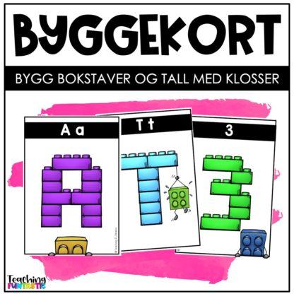 Bygg bokstavene med lego førskoledag