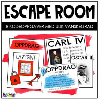 Escape room i undervisningen 17 mai