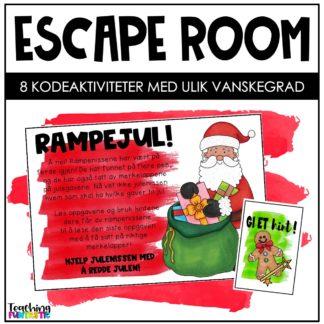 Escape room i undervisningen jul