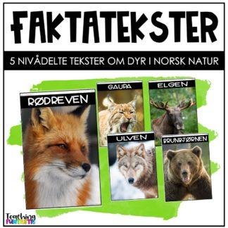 Faktatekster om dyr i norsk natur