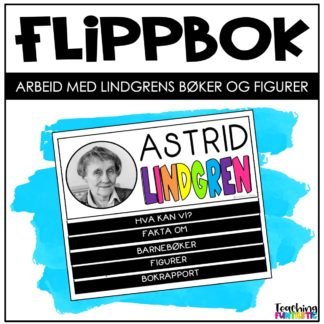 Flippbok oppgvaer om Astrid Lindgren