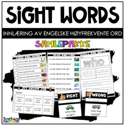 Høyfrekvente ord på engelsk