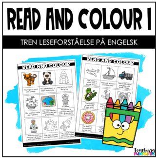 Leseforståelse på engelsk les og fargelegg 1