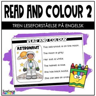 Leseforståelse på engelsk les og fargelegg 2