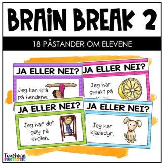 Pauseaktivitet skole Brain break 2