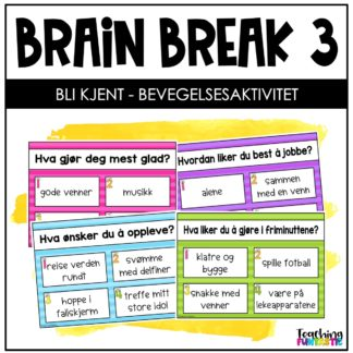 Pauseaktivitet skole Brain break 3