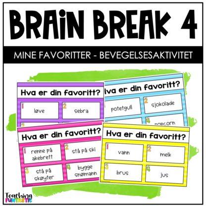 Pauseaktivitet skole Brain break 4