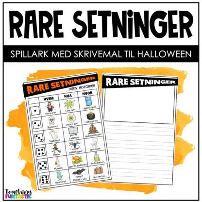 Rull rare setninger halloween
