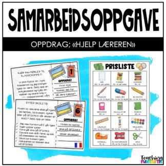 Samarbeidsoppgave hjelp læreren