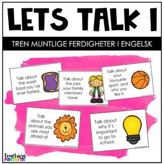 Samtalekort Muntlige ferdigheter på engelsk 1