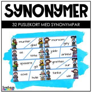 Synonymer oppgaver