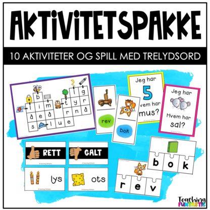 Aktiviteter spill og oppgaver med trelydsord
