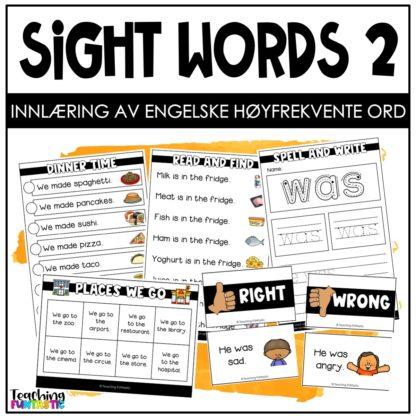 Høyfrekvente ord på engelsk 2