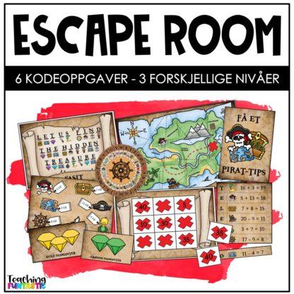 Escape room i undervisningen pirat
