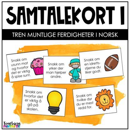 Samtalekort muntlige ferdigheter norsk 1
