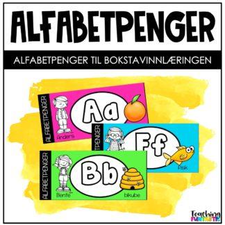 Alfavetoppgaver alfabetpenger