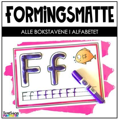 Forme og skrive bokstavene i alfabetet