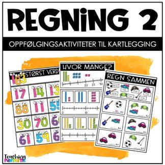 Kartlegging og oppgaver regning 2 trinn