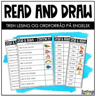 Les og tegn leseoppgaver engelsk