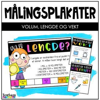 Plakater måling matematikk