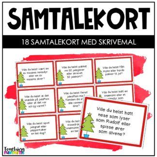 Samtalekort muntlige ferdigheter jul