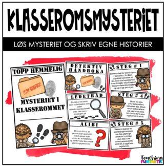 Skriv mysterie klasseromsmysteriet