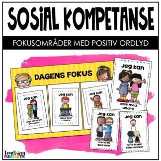 Sosial kompetanse oppgaver