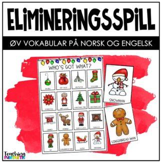 Spill jul norsk og engelske ord