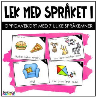 Språkleker oppgavekort norsk 1