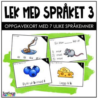 Språkleker oppgavekort norsk 3