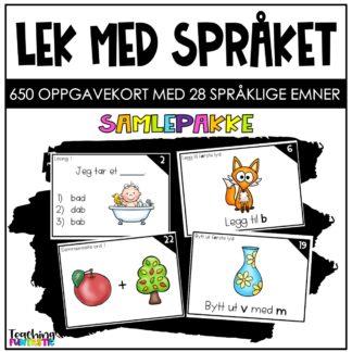 Språkleker oppgavekort norsk