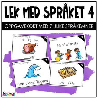 Språkleker oppgavekort norsk 4