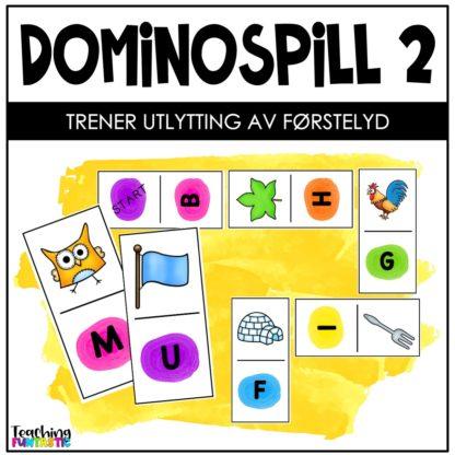 Domino bokstavspill førstelyd