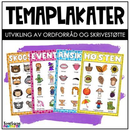 Temaplakater Ordforråd