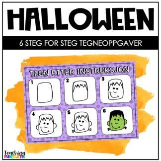 Halloween tegneoppgaver